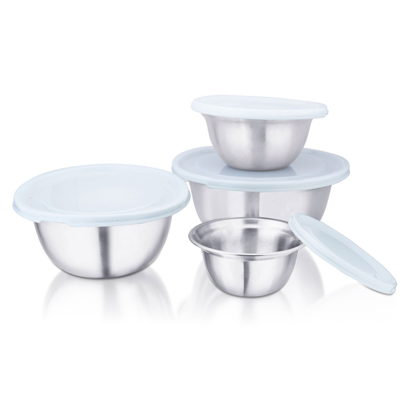 A set of stainless steel mixing bowls, High quality Kitchenware