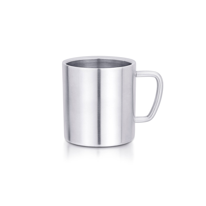 Coffe mug that has double walls for keeping your beverage warm, serveware