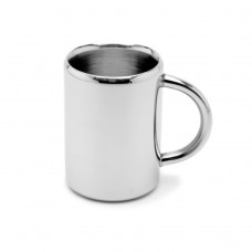 Double Wall Straight Mug With Pipe Handle
