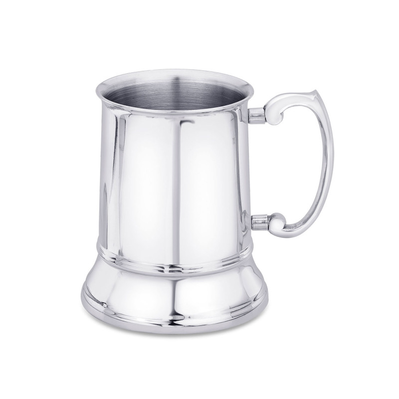Elegantly designed double wall beer mug with a heavy handle, barware