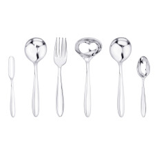 Stainless steel curve edged serveware set, Americana
