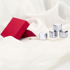 Attractive red package for stainless steel ice cubes, barware accessories