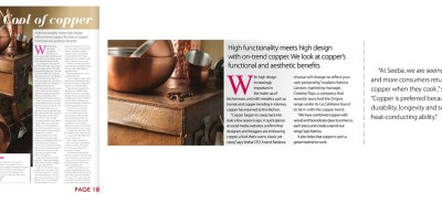Seeba-Copperware-Kitchenware International Magazine