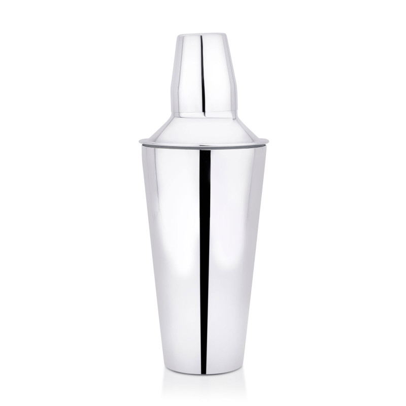 Stylish stainless steel cocktail shaker, barware