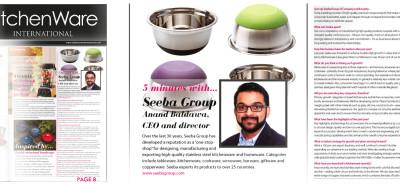 Seeba Group of Companies - Kitchenware International Magazine