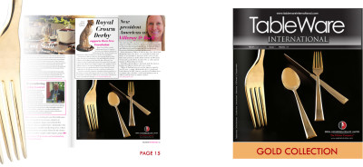 Seeba Industries - Gold flatware collection advert