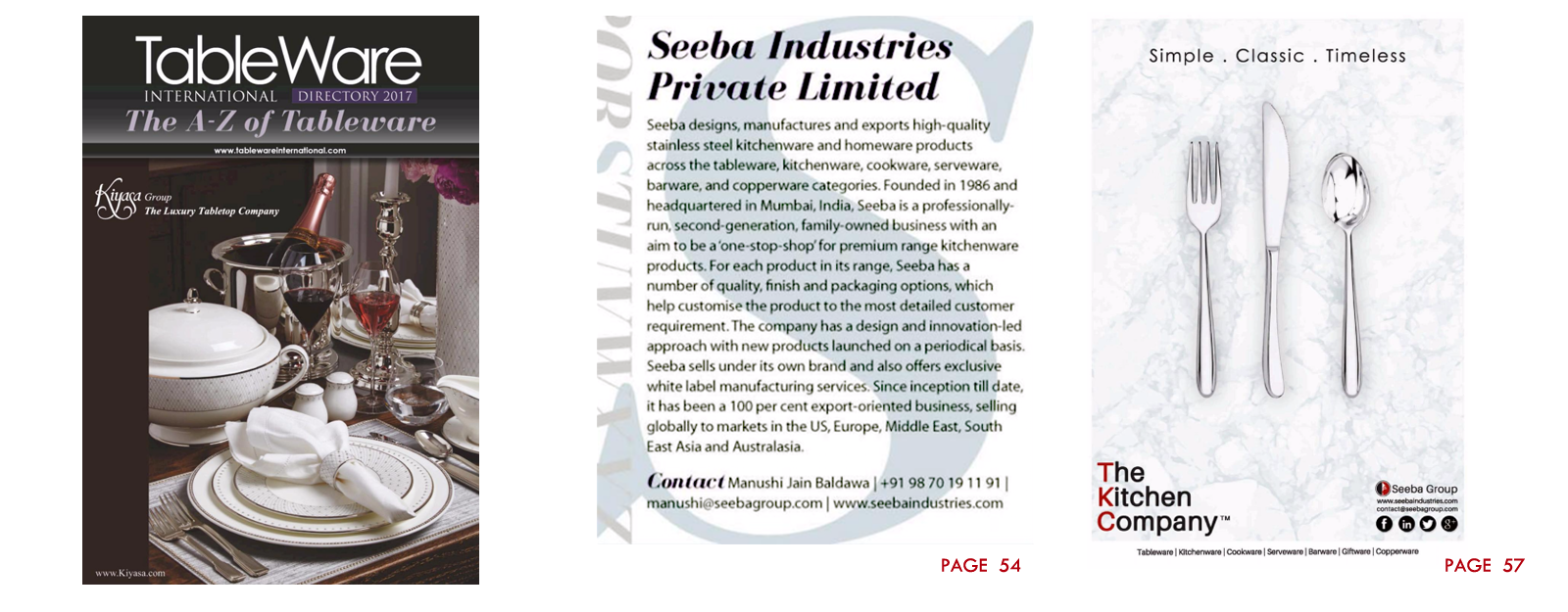 The A to Z of Tableware!  sc 1 st  Seeba Industries Private Limited & SS Exporters Distributors and Manufacturers in India